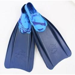 Ласты резиновые для плавания Дельфин (22,5-23,5), р-р  38-40  Альфа